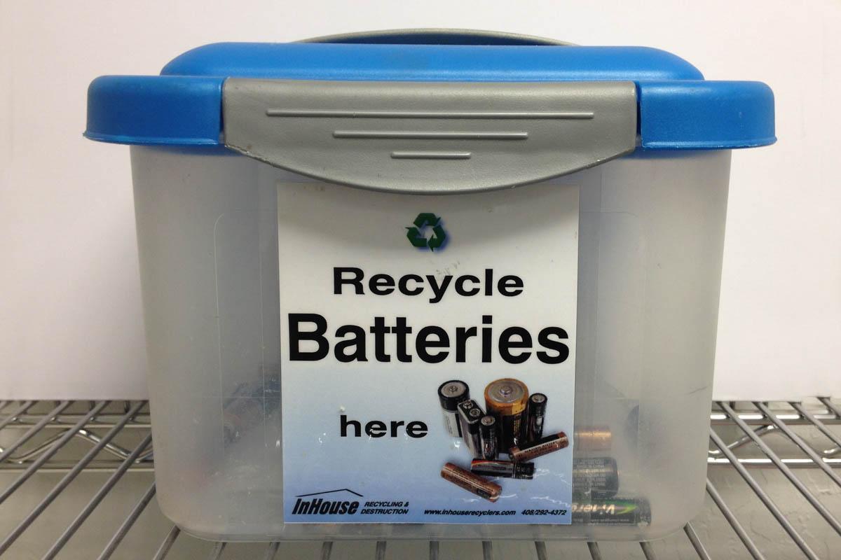 on site shredding service - battery recycling service
