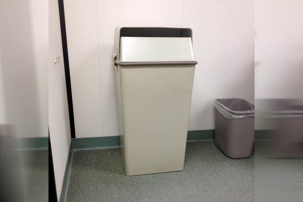 on site shredding service - locked metal shredding bin